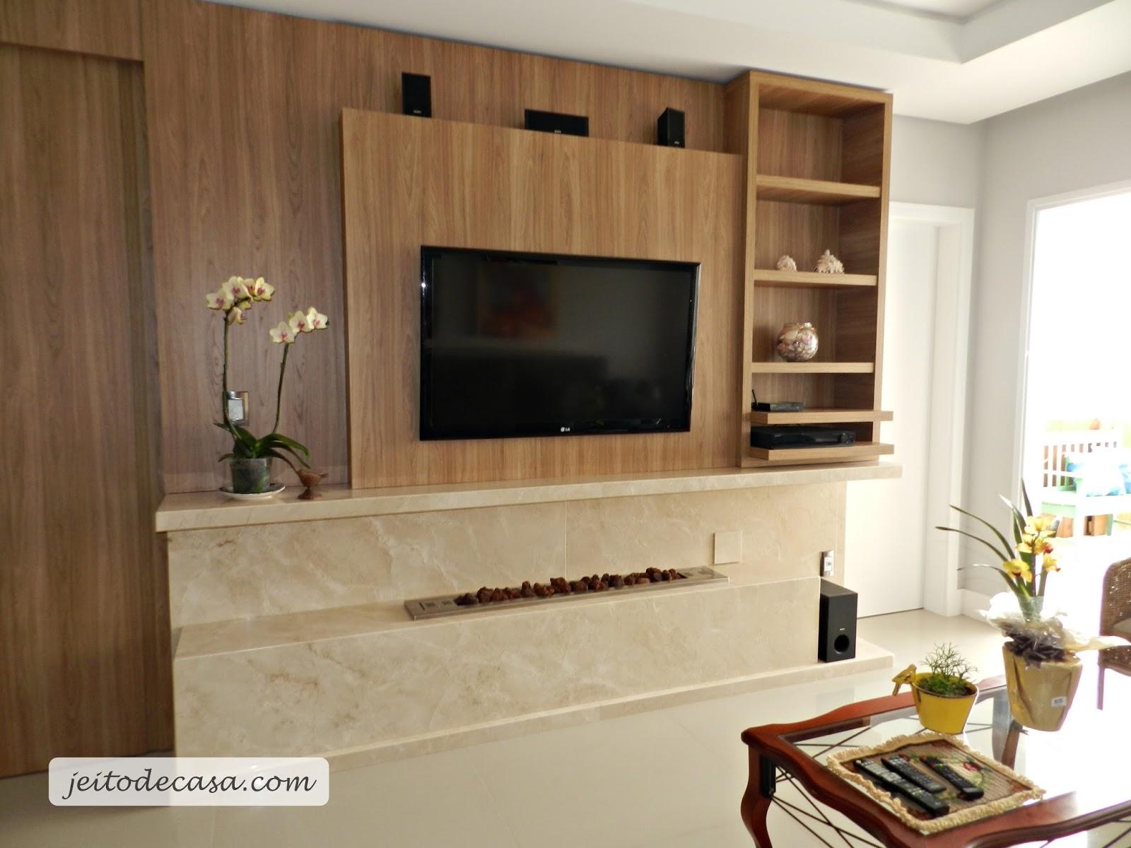 Lareira Para Sala De Tv ~ Lareira a gás (decoração e arquitetura)  Jeito de Casa  Blog de