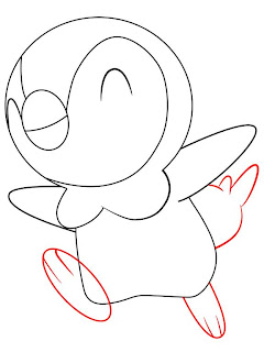 How To Draw Piplup Pokemon Step 4