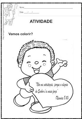 Atividade para colorir - Alegria