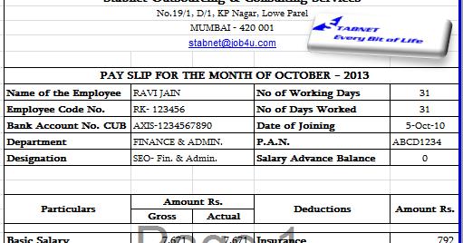salary slip example tvsputniktk