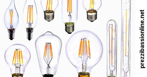 Lampadine con filamento led prezzi migliori for Lampadine led online