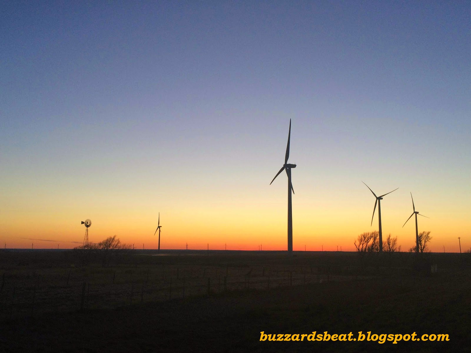 Old and new wind energy on the plains