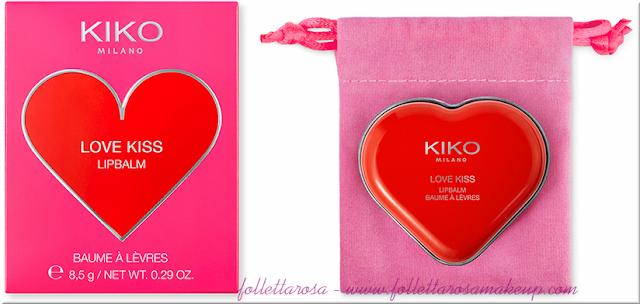 kiss balm kiko san valentino