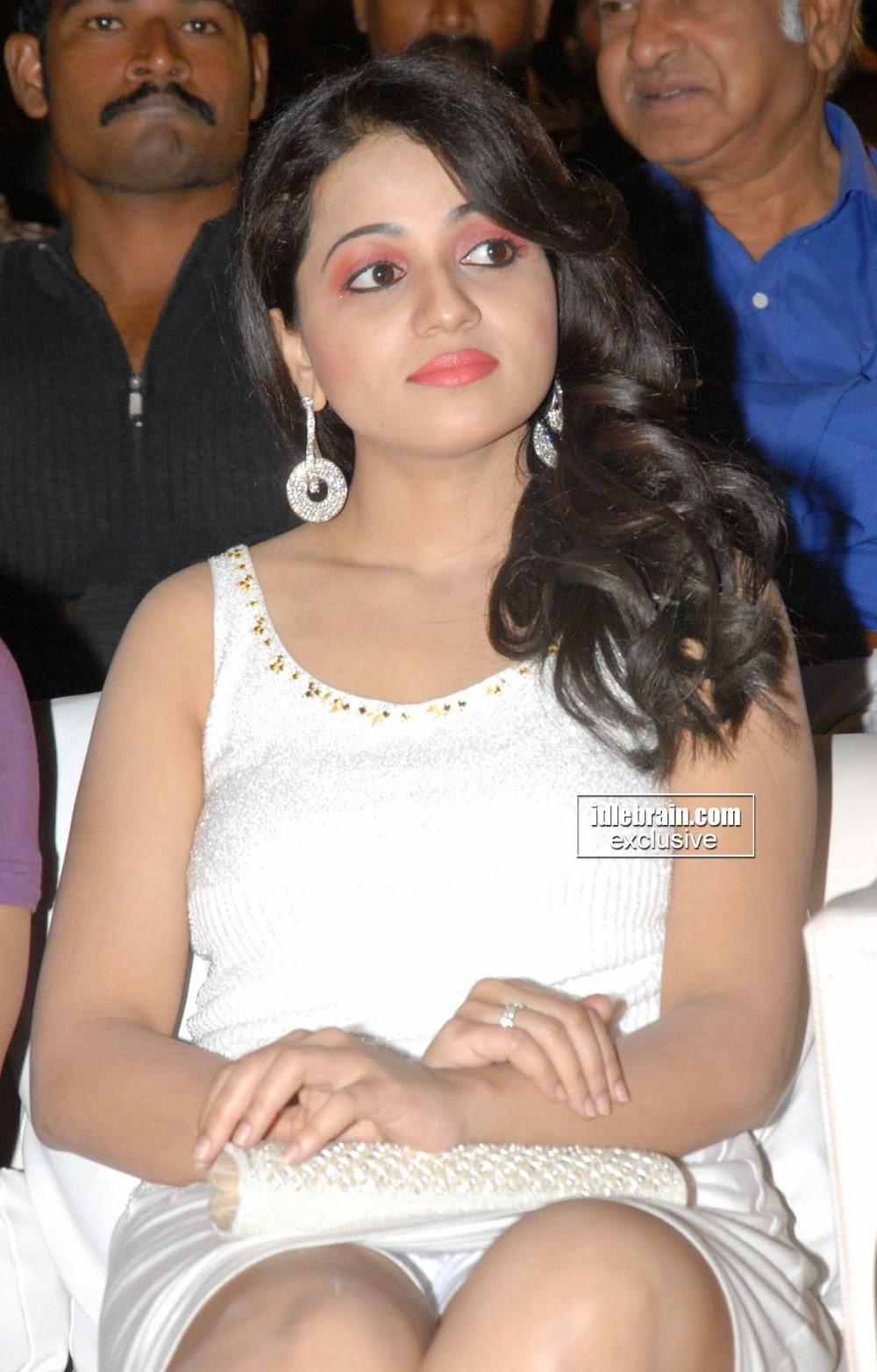 Reshma in white short dress