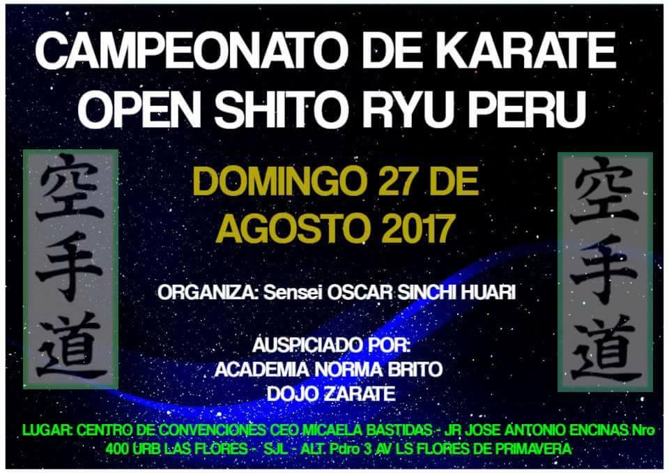 """CAMPEONATO DE KARATE """"Open Shito Ryu Peru"""" Lima-Perù"""