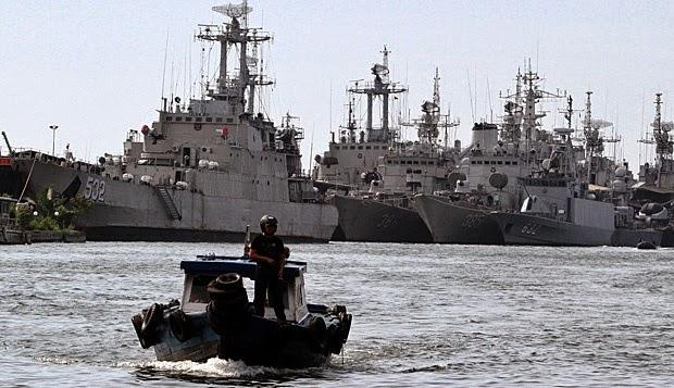 Peta Kekuatan Laut Indonesia di Perbatasan