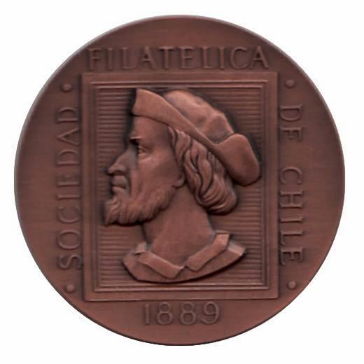 Medalla Vermeil Grande. Exposición Intercontinental EXFIL 125. Chile 2014