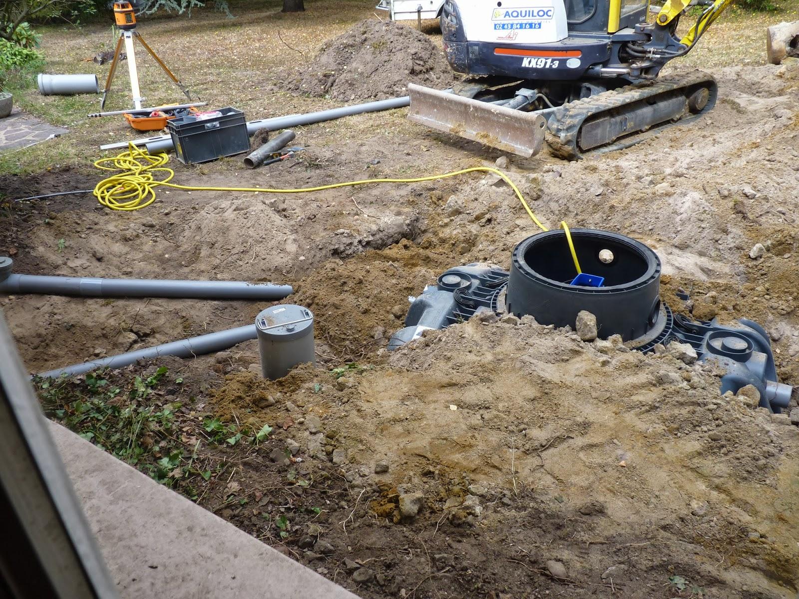 Etape 4 raccordement de la maison à la fosse