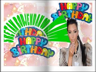 ecards,čestitka za rođendan sa Kim Kardasijan