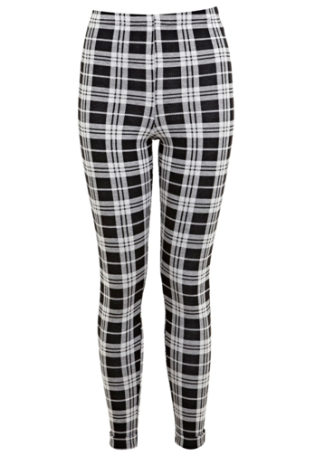 Large Check Tube Trouser