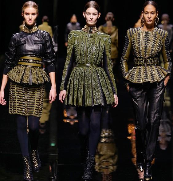balmain fall 2014 rtw, paris fashion week, runway