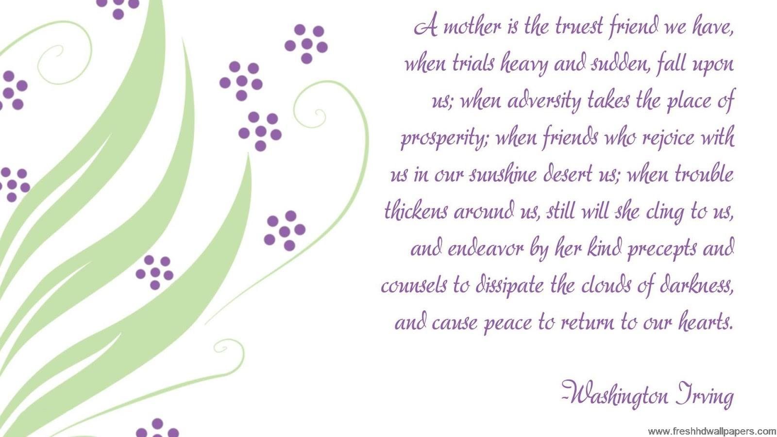 Mothers Day 2013 Special Quotes Free Wallpaper