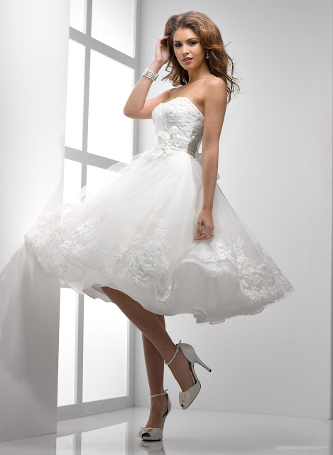 short+wedding+dress+2013+(6) Wedding Gown Trends For Next Year