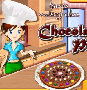 Cocinando Pizza de chocolate