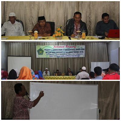 Kemenag Tanjungbalai Gelar Acara Sarasehan Standarisasi Biaya Dan Ketentuan Belanja Tahun 2016