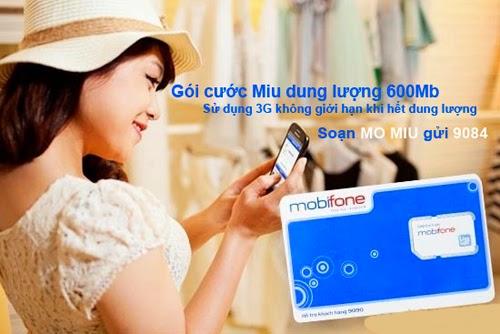 Dung lượng gói cước Miu của Mobifone