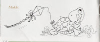 risco tartaruga soltando pipa