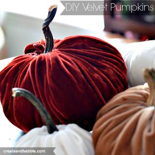 http://createandbabble.com/make-velvet-pumpkins/