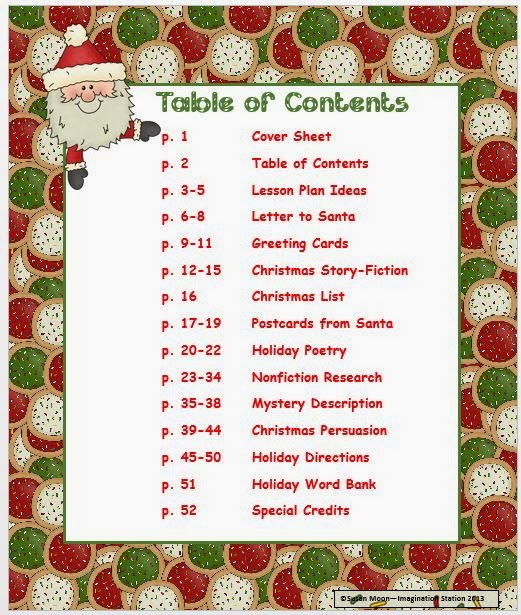 Imagination station santas writing list as ive said before i am a writer at heart once i start developing a packet i just keep adding to it because there are so many ways you can engage spiritdancerdesigns Image collections