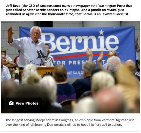 Bernie Sanders at Washington Post
