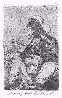 '¿Si sabrá más el discípulo?' - Grabado nº 37 de 'Los Caprichos' de Francisco de Goya