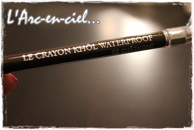lancome crayon khol waterproof eyeliner 02 chataigne brun l 39 arc en ciel. Black Bedroom Furniture Sets. Home Design Ideas