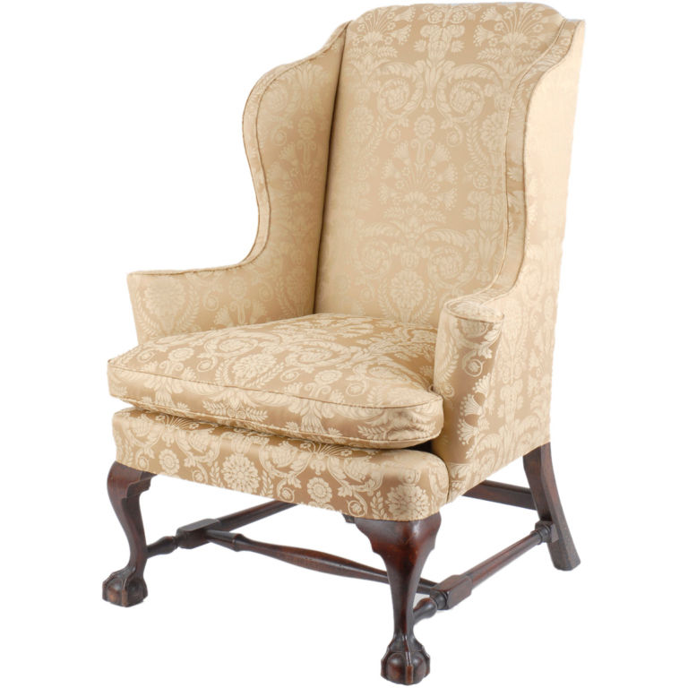 Antique style 18th century george iii wingback chair upholstering