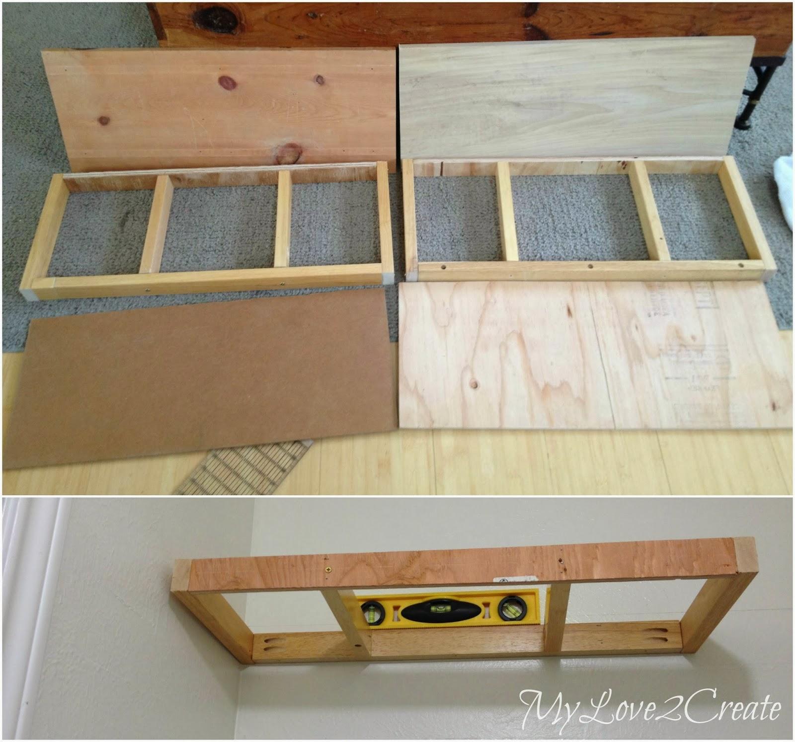 Shoe shelf bench and floating shelves master closet for Floating bench plans