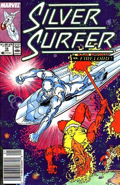 Portada de Silver Surfer #19