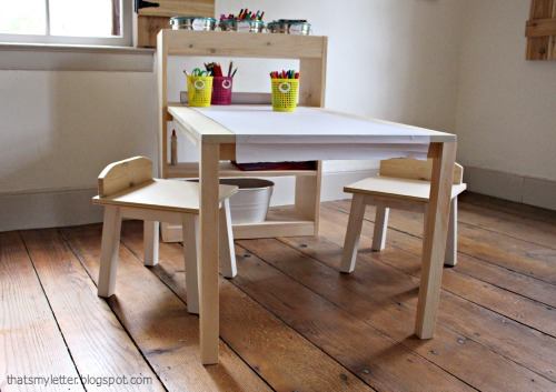That S My Letter Diy Kids Art Center Worktable With