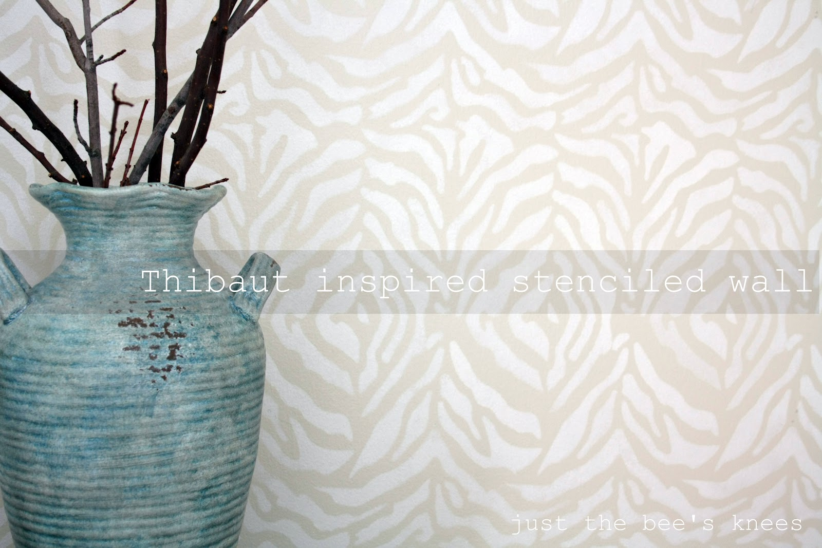 Thibaut inspired stenciled wall