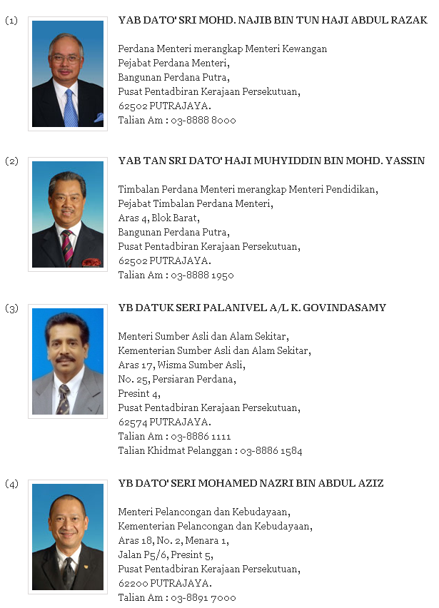 Menteri kabinet 2013