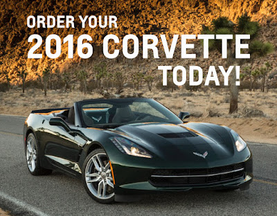 Order Your 2016 Corvette at Purifoy Chevrolet