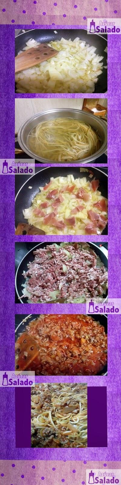 espaguetis con carne