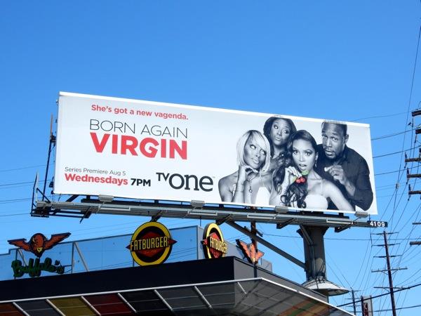 Born Again Virgin series premiere billboard