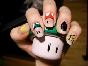 Unhas Decoradas Super Mario
