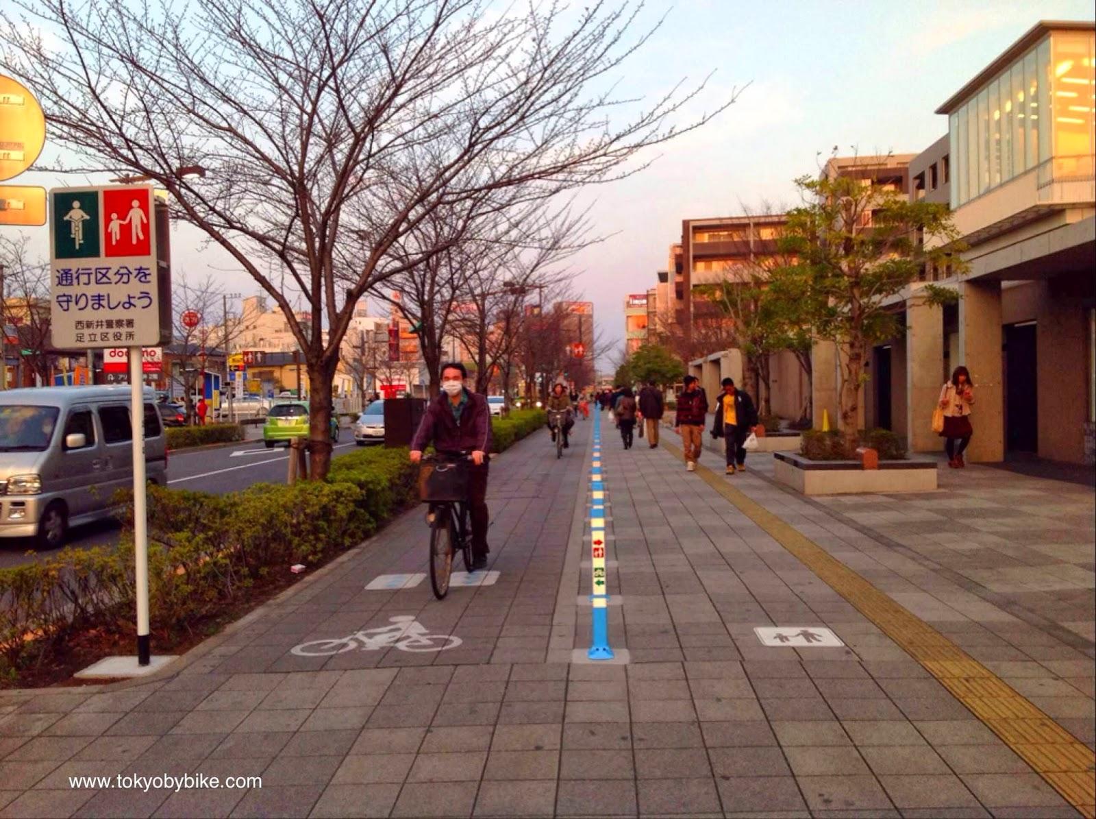 Bicycle Lane Adachi-ku Tokyo