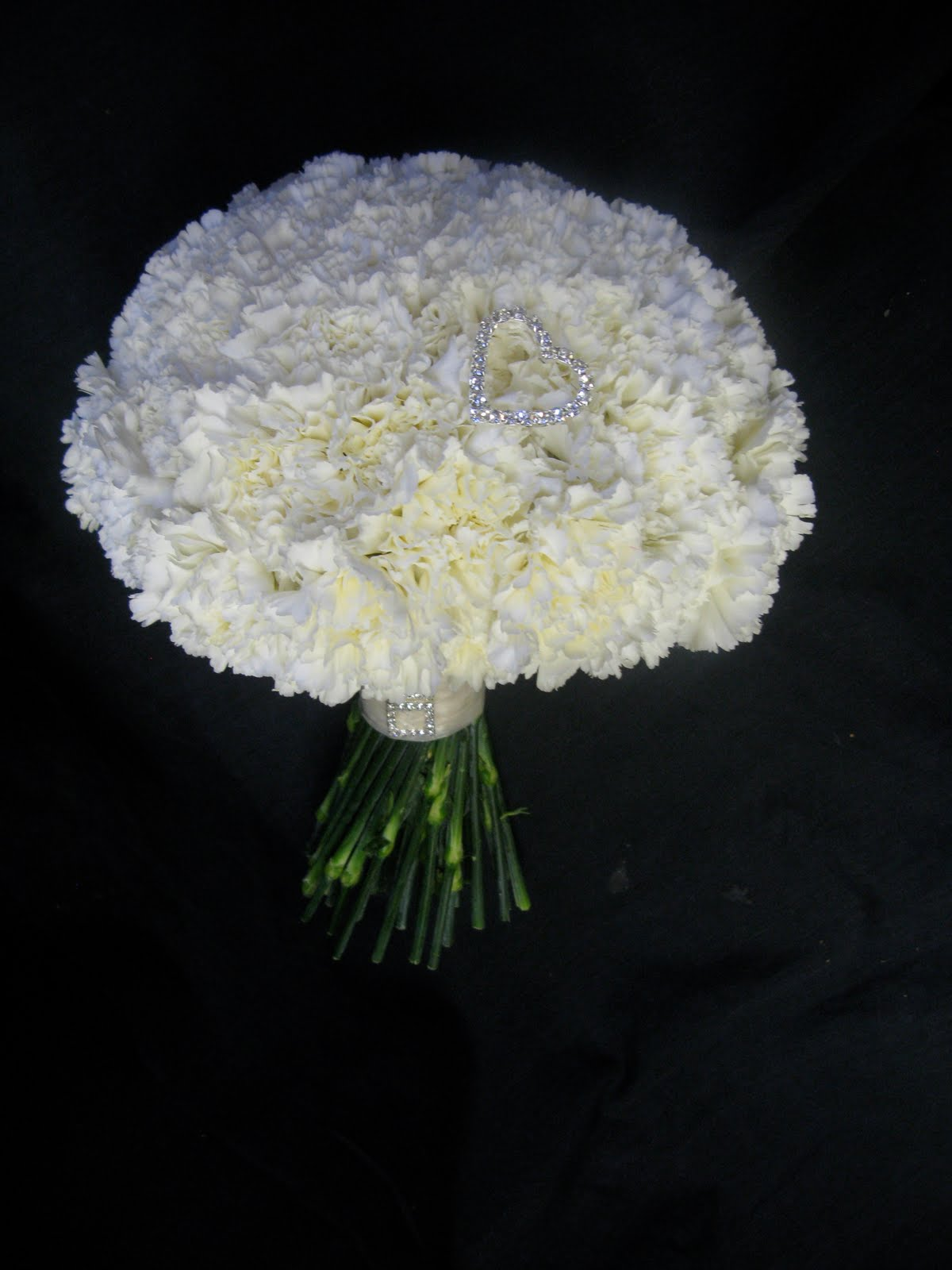 Bouquet bridal white carnation bouquets