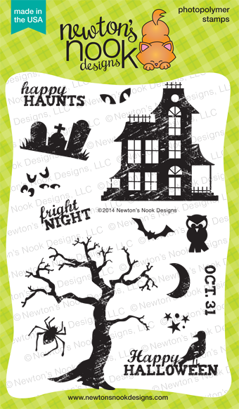 Spooky Street - Haunted House and Halloween Stamp set by Newton's Nook Designs