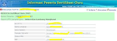 daftar peserta sertifikasi guru 2013