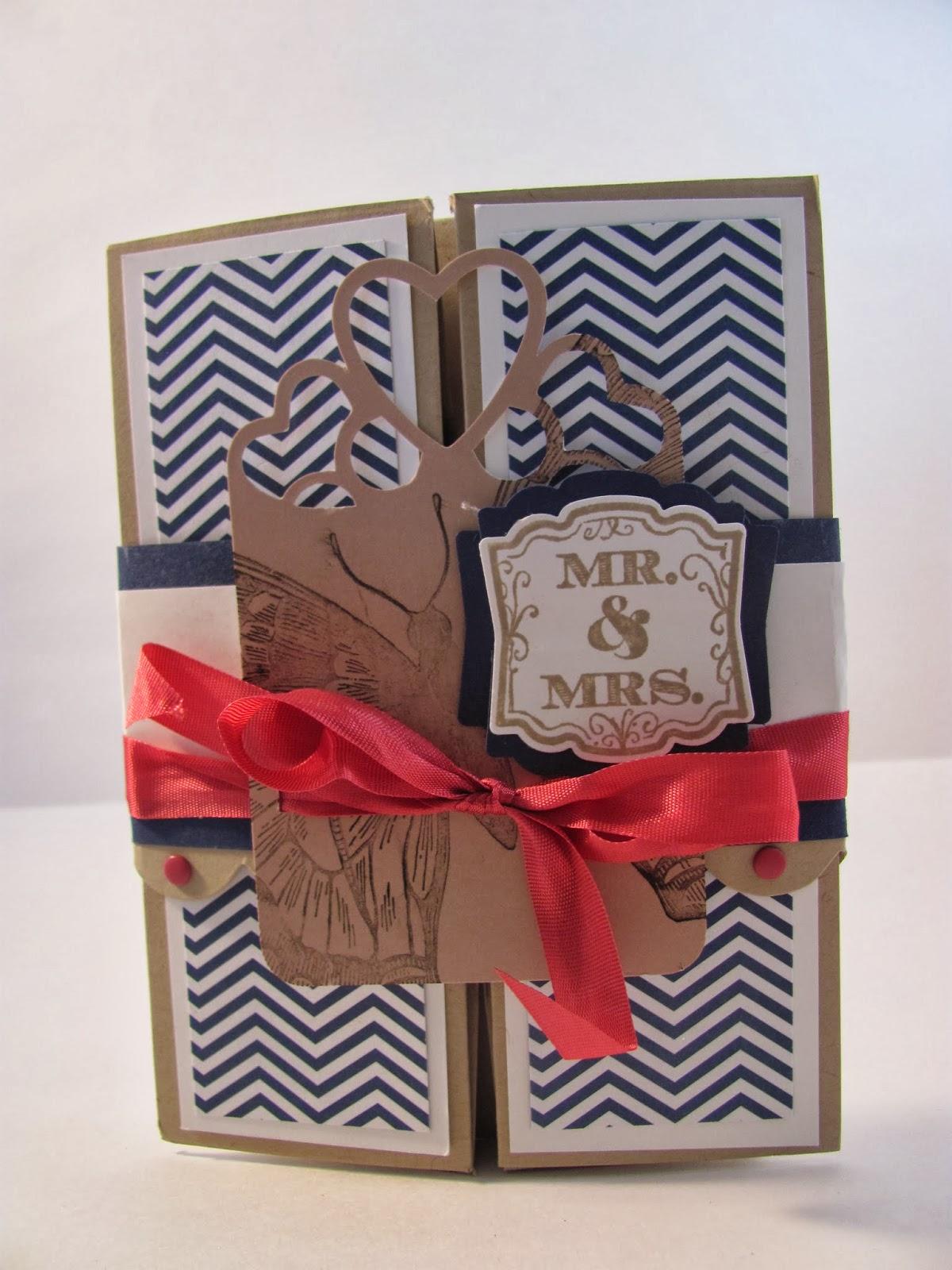 Unique ink: A Wedding Card- Fancy Fold Style-Box Card