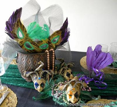 decoracion mesa carnaval 2013 centro mesa