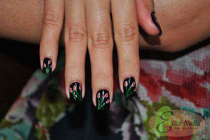 Elite Nails Hand, Foot and Body Spa: Nail Art Pick: Flowers For Your ...