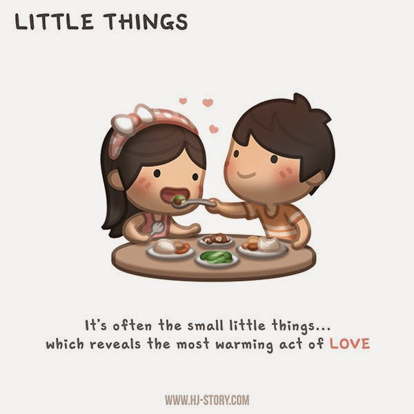 "love the little things Artist ""puuung"" captures those little moments that make love whole in these heartwarming illustrations experts agree that these day-to-day interactions are."