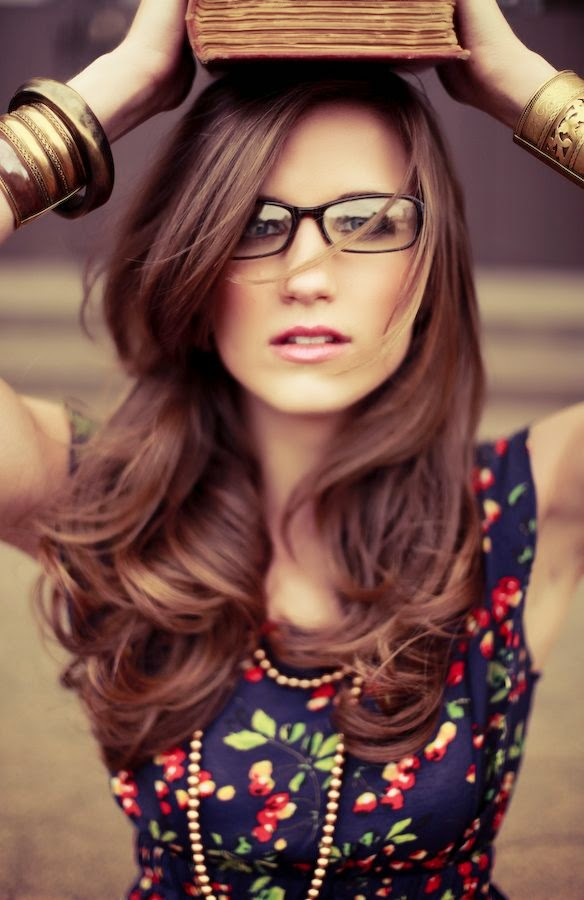 Hairstyles For Long Hair And Glasses : Hairstyle and eyeglasses - Designer Glasses: Cool Glasses for Every ...