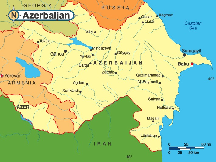 Related Azerbaijan Maps and Azerbaijan Satellite Images