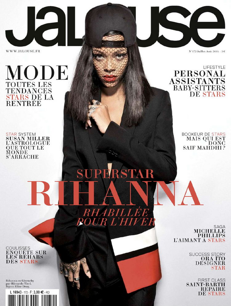 Rihanna covers Jalouse Magazine July/August 2014