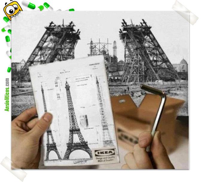 Chiste de Ikea: Torre Eiffel