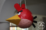 Dear husband also DIY an angry bird pinatas for her too.