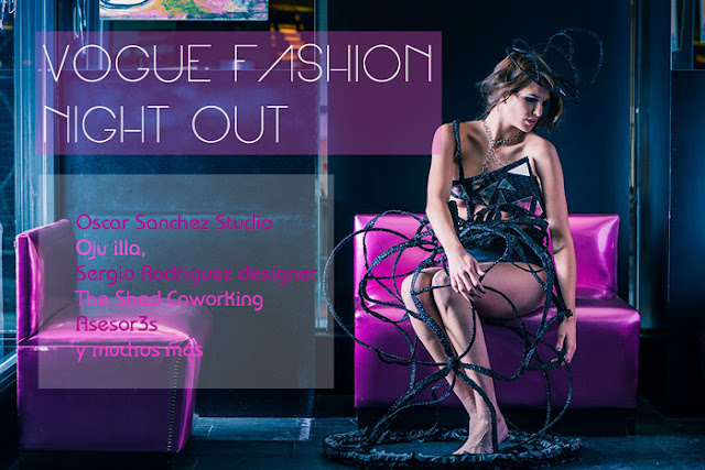 cartel vogue fashion night out madrid 2013 oju illa